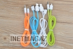 Кабель Jelly USB Cable для Iphone 5 5s 6 6s plus Blue, Green, White