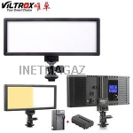 Свет Viltrox L132T lcd-Дисплей bi-color dimmer slim F570 +З У