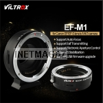 VILTROX EF-M1 Auto Focus Exif Lens Adapter for Canon EOS EF EF-S Lens to Olympus Micro M4/3  GH4, GH5, GF6, GF1, GX1, E-M5, E-M10